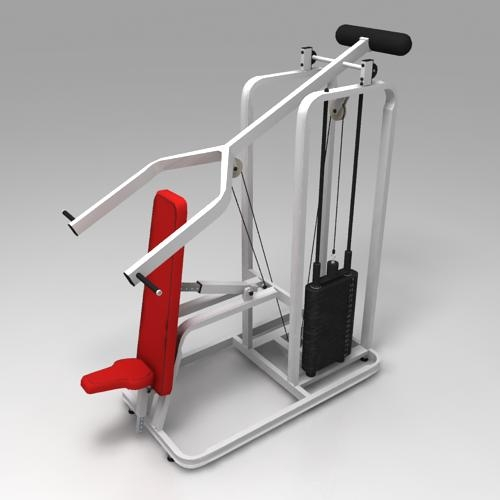 Incline press machine