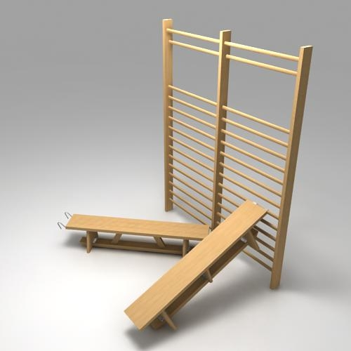 Wall bars and benches