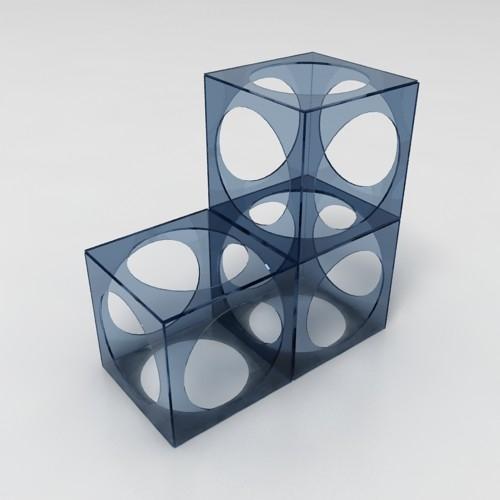 Decorative glass element