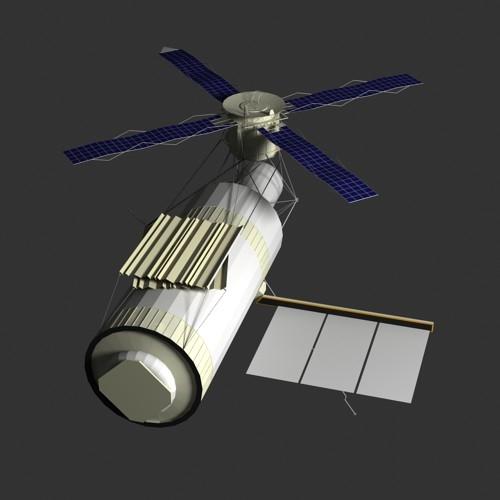 Skylab space station - 3DLenta 3D Models Library