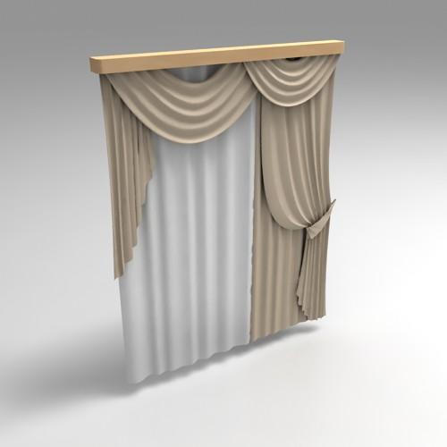 3d модель римская штора доступна для скачивания в форматах: 3ds.