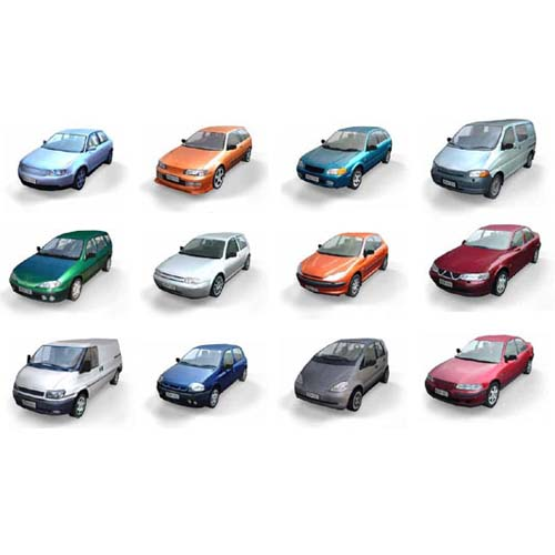 Low poly cars. Part 1