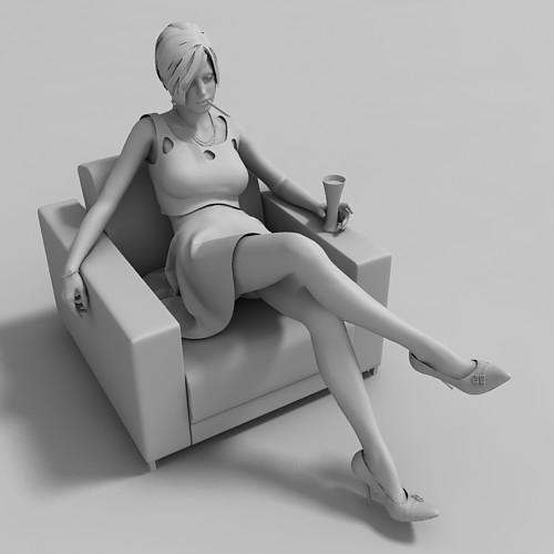 Woman seating